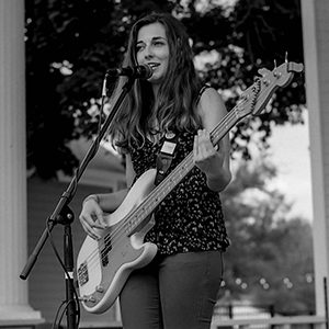 Miss Christine playing at 319 Fest 2018 in Czech Village in Cedar Rapids, Iowa