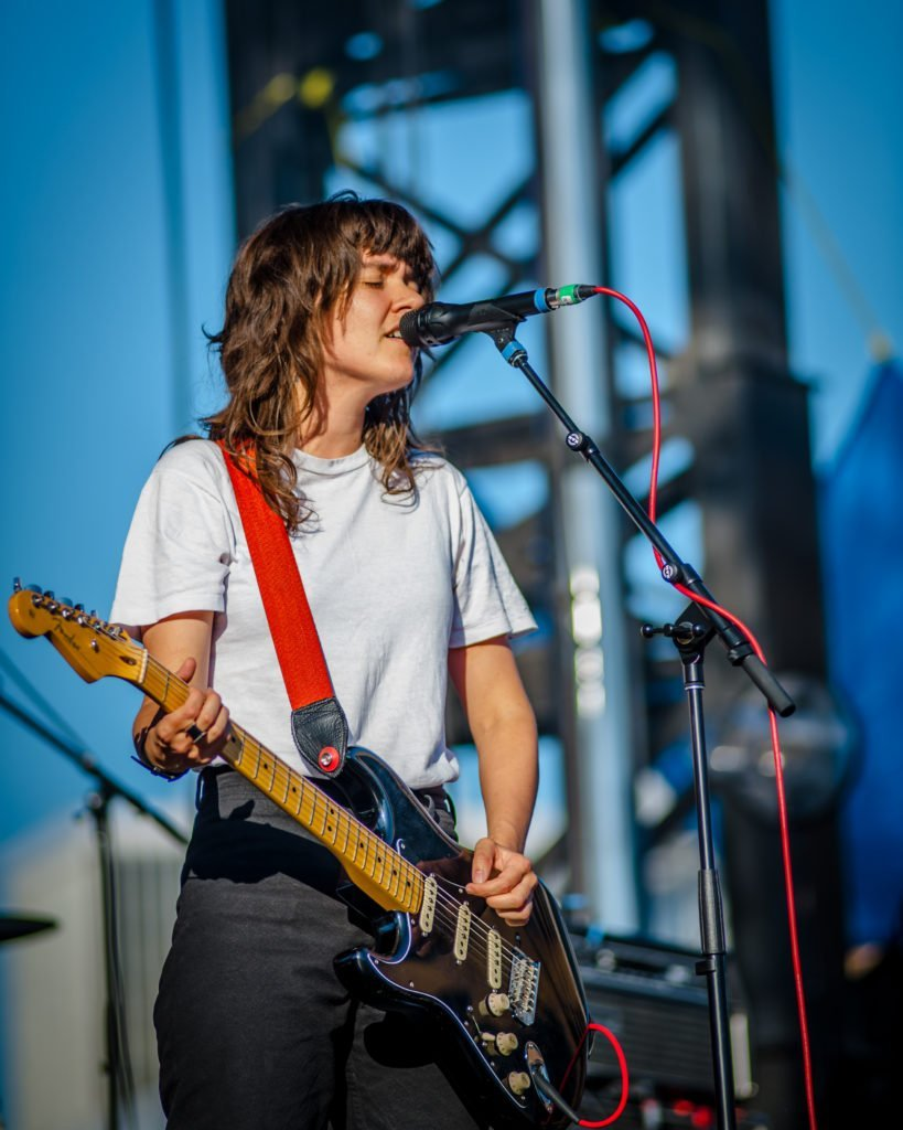 Courtney Barnett performing at 80/35 Music Festival 2018 in Des Moines, Iowa
