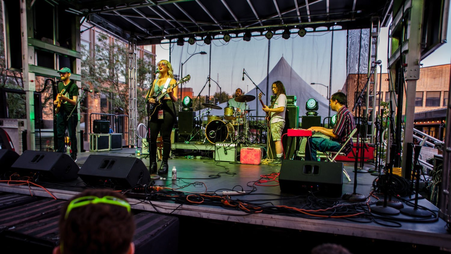 Elizabeth Moen performing at 80/35 Music Festival 2018 in Des Moines, Iowa