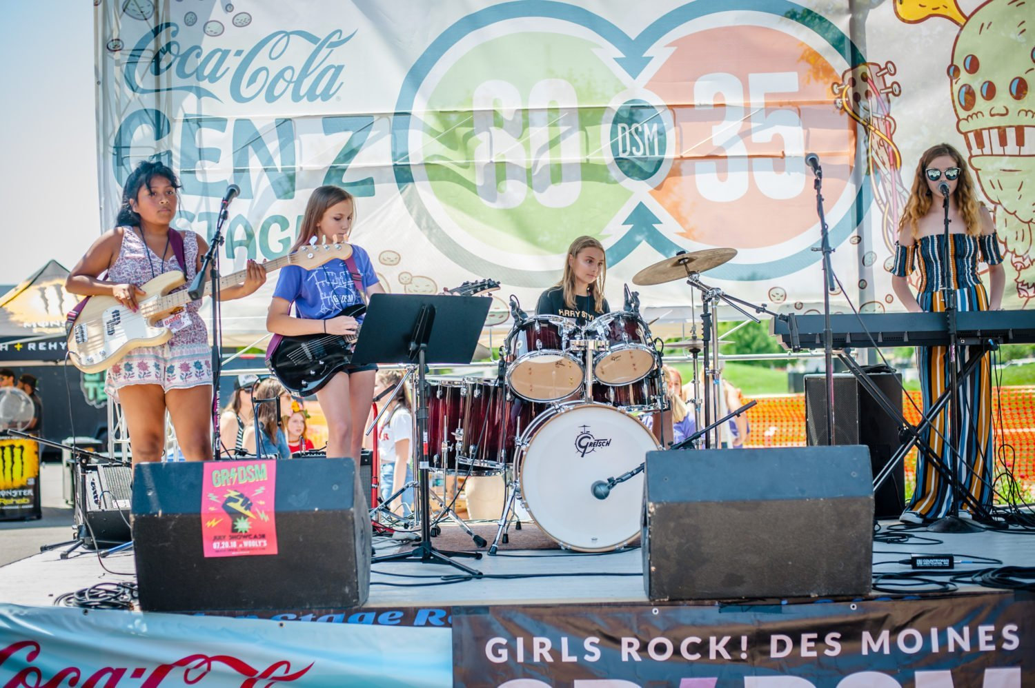 Girls Rock! Des Moines performing at 80/35 Music Festival 2018 in Des Moines, Iowa