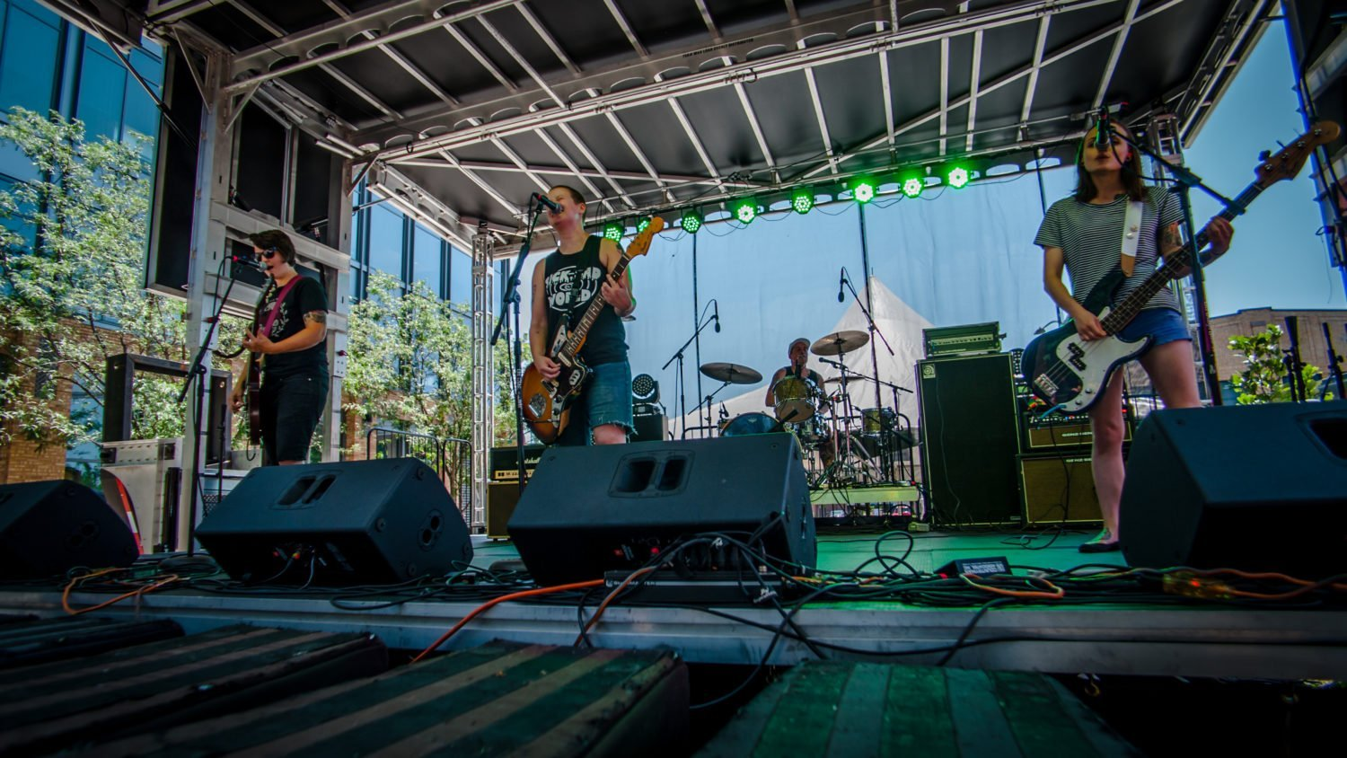 Starry Nights performing at 80/35 Music Festival 2018 in Des Moines, Iowa