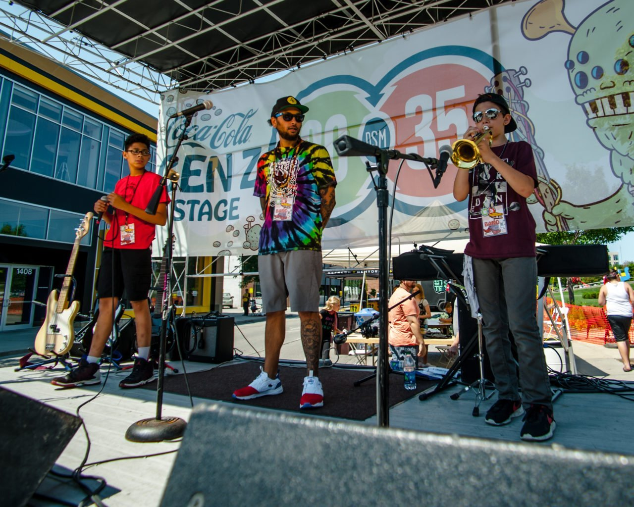 Summer Camp Hip Hop performing at 80/35 Music Festival 2018 in Des Moines, Iowa