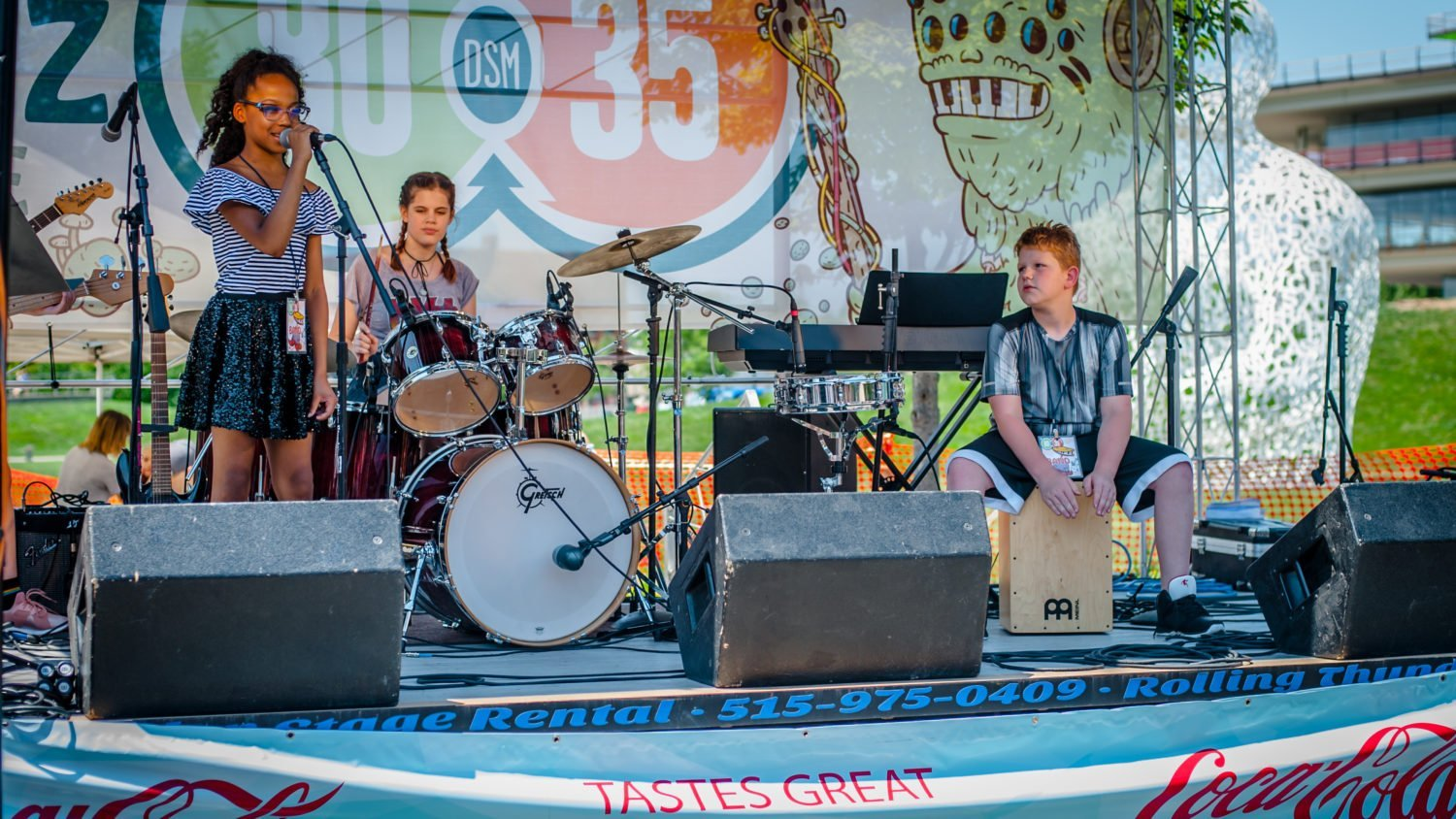 Summer Camp Rock performing at 80/35 Music Festival 2018 in Des Moines, Iowa