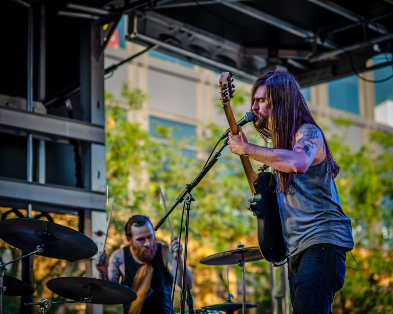 Telekinetic Yeti performing at 80/35 Music Festival 2018 in Des Moines, Iowa