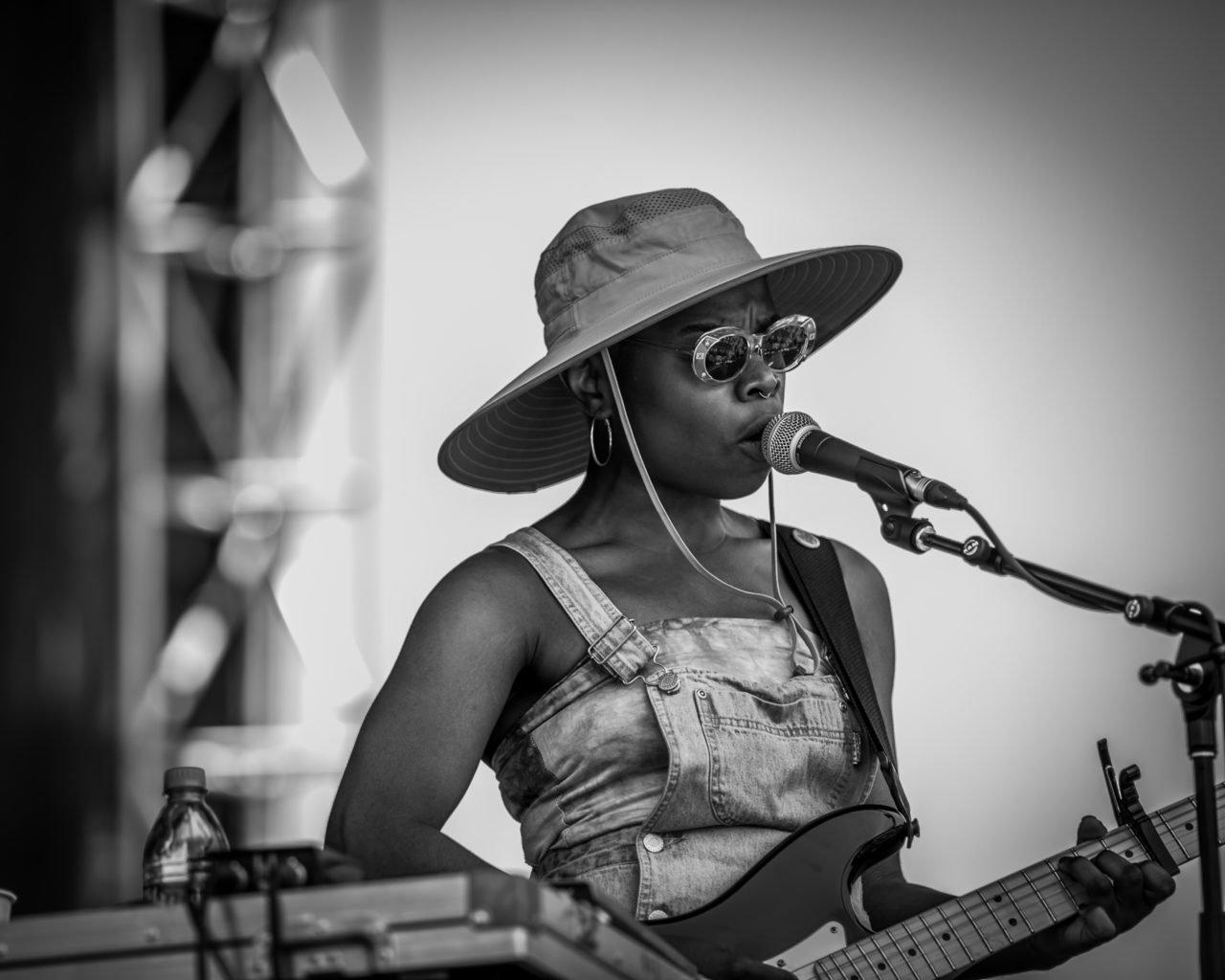 Vagabon performing at 80/35 Music Festival 2018 in Des Moines, Iowa