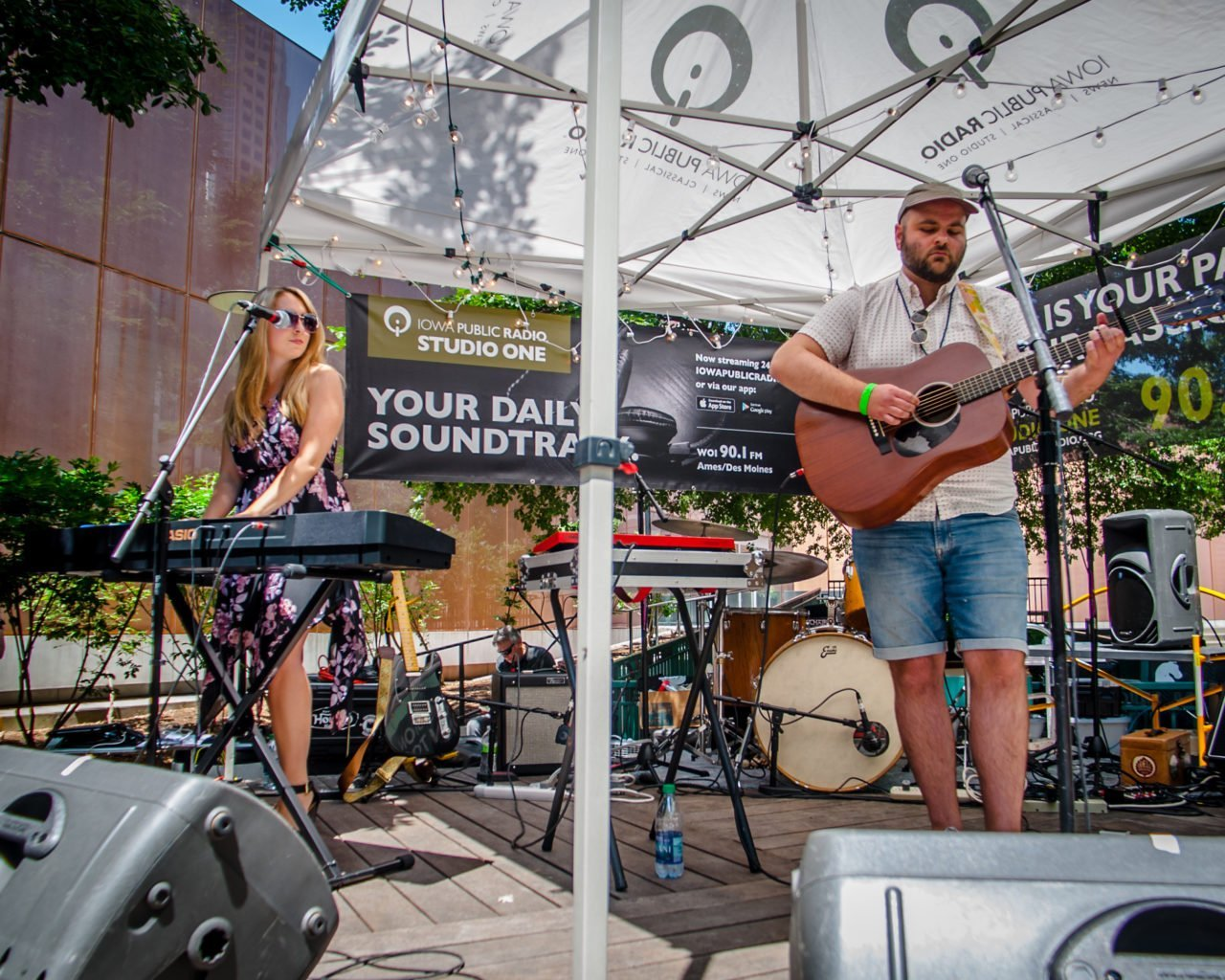 Host Country performing on the Iowa Public Radio stage at 80/35 Music Festival 2018 in Des Moines, Iowa