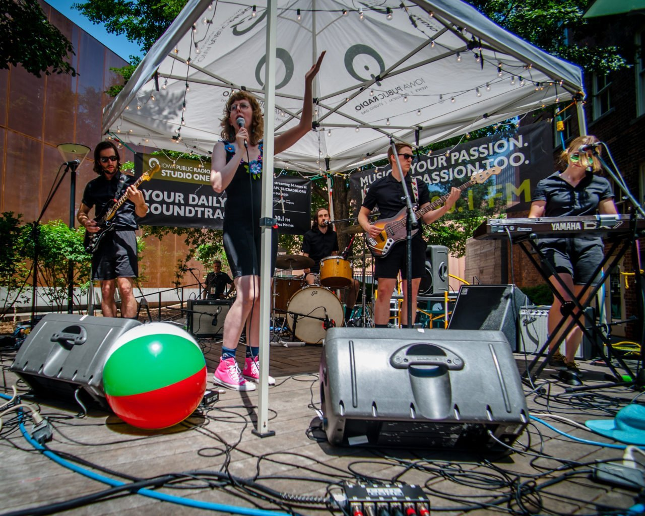 Ramona and the Sometimes performing on the Iowa Public Radio stage at 80/35 Music Festival 2018 in Des Moines, Iowa