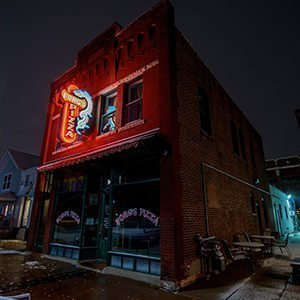 """Photo from """"A City by Dark"""", my second installation at the historic CSPS in the NewBo district in Cedar Rapids"""