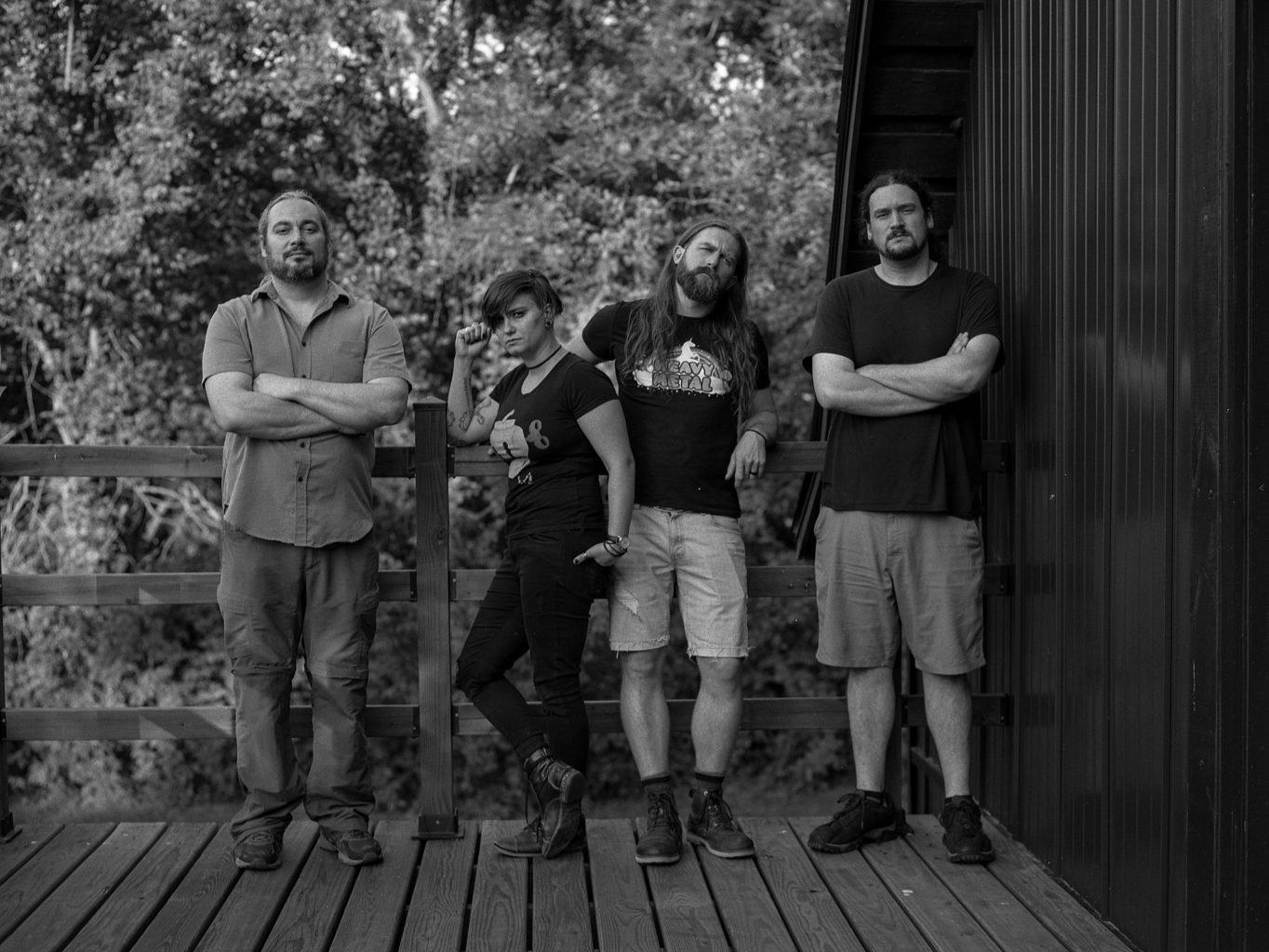 Dead Emperors taking a break from recording outside Flat Black Studios