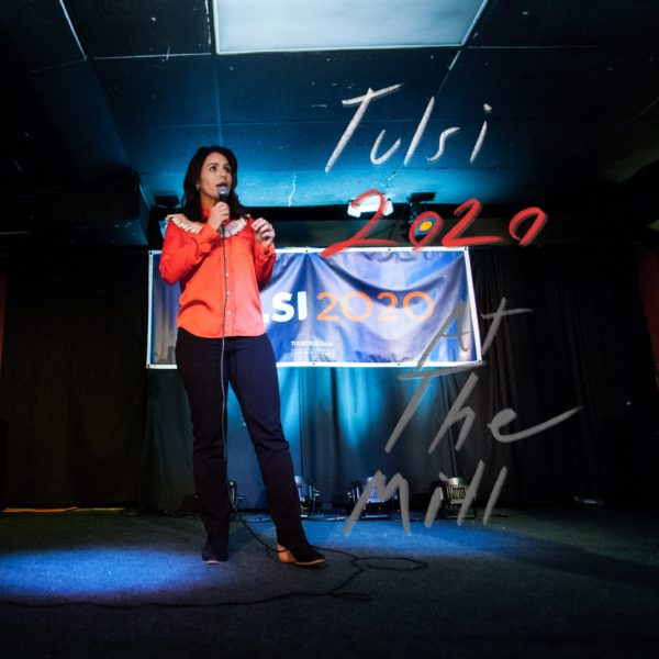 Featured image for Tulsi Gabbard's campaign stop in Iowa City
