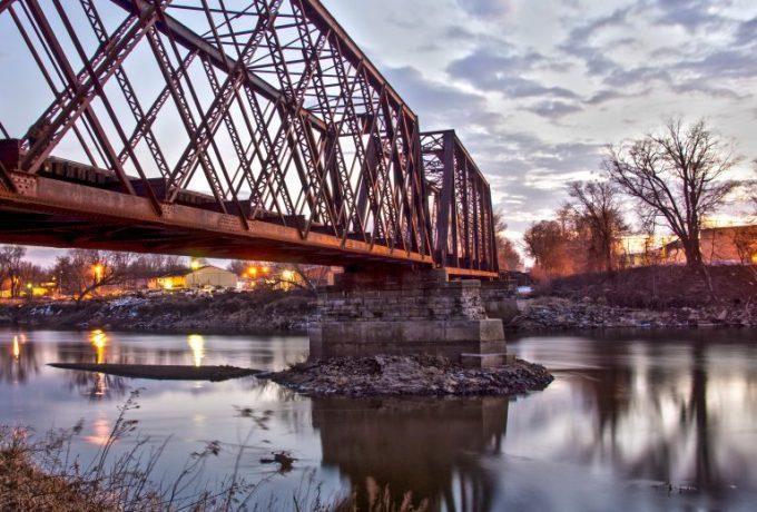 Photo of a bridge in Coralville, Iowa