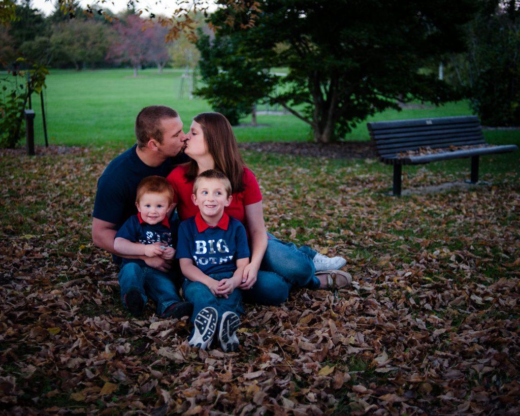 Family portrait at Morgan Creek Park
