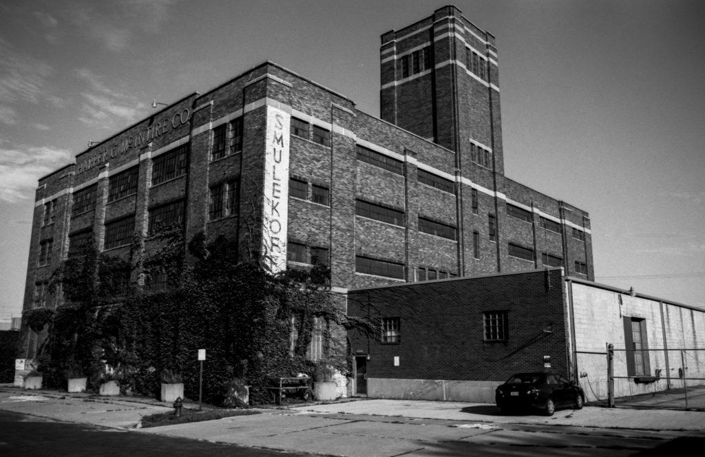 Smulekoffs Furniture building in Cedar Rapids, Iowa