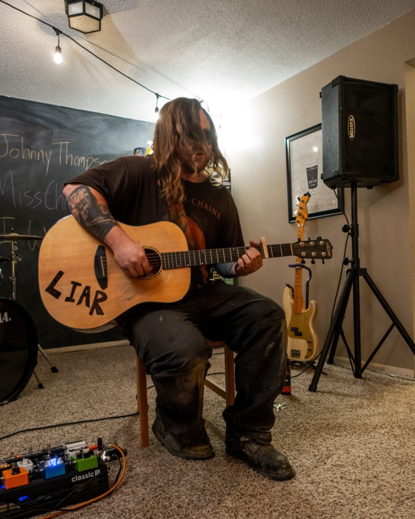 Johnny Thompson playing at our house show in Cedar Rapids, Iowa