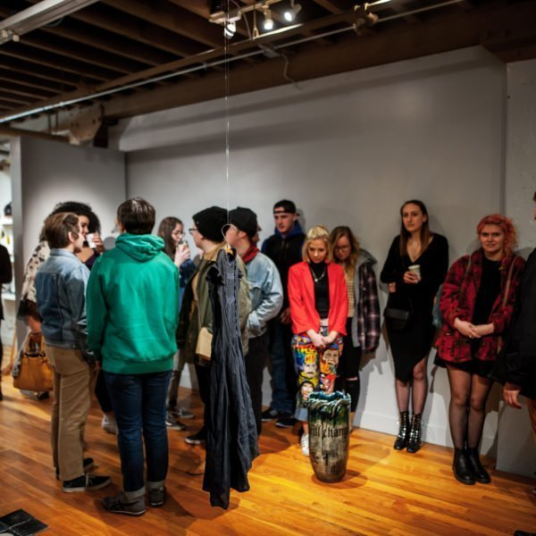 """Caitlin Mary Margaret's """"When the Waters Become Dark and Deep"""" opening at the Ceramics Center in Cedar Rapids, Iowa"""